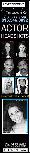 Tampa Actor Headshots by Aurora PhotoArts. Guaranteed Services.